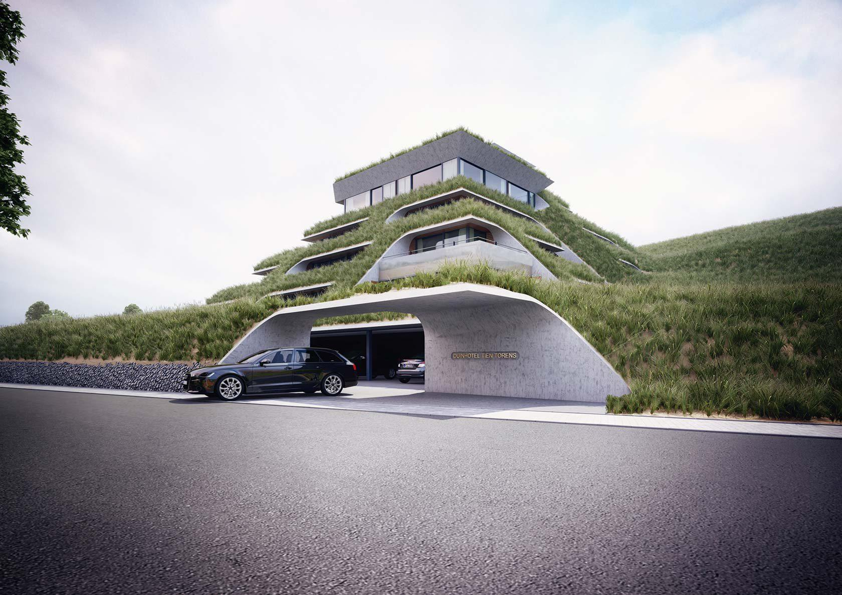 Dune Hotel 3D Visualisierung