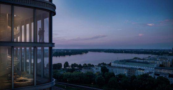 Skyline Hamburg 3D Visualisierung